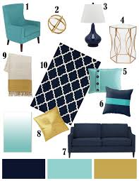 Gold Living Room Decor by Color Inspiration Navy Aqua And Gold Color Inspiration Aqua