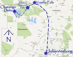 Botswana Map Victoria Falls Travel Tour Brushbuck Wildlife Tours