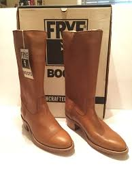 s frye boots size 9 vintage s frye boots toffee in box size 9 1 2 d 2562