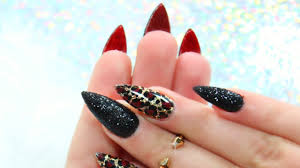 red bottom cheetah nails without polish sugaring effect youtube