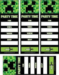 72 best minecraft birthday printables images on pinterest