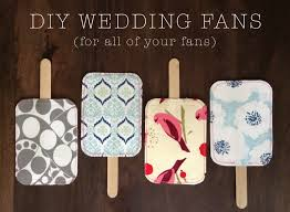 diy wedding fans diy wedding fans do it yourself ideas and projects