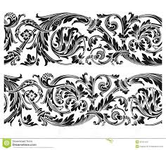 vintage floral ornament stock vector image of silhouette 30761440