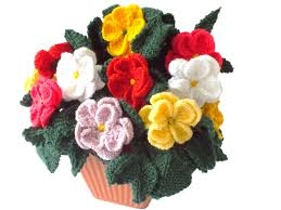wedding gift knitting patterns pot of knitted dahlias knitting pattern for dahlias knitted