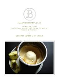the british larder caramelised apple ice cream recipe card apple