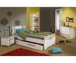 photo chambre enfant chambre enfant bora blanche et bois set de 4 meubles