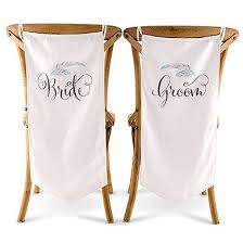 Bride And Groom Chair Feather Whimsy Bride And Groom Chair Banner Set U2013 Party Supplies