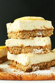 creamy vegan lemon bars gf minimalist baker recipes