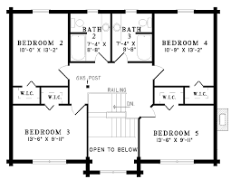 five bedroom floor plans 5 bedroom log home floor plans photos and
