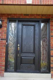 Exterior Door With Side Lights Scintillating Front Doors With Single Sidelight Photos Ideas