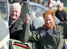 prince harry gave spitfire seat to battle of britain veteran
