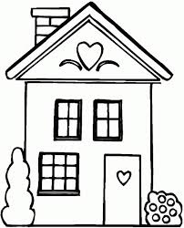 coloring page house house outline clipart best inspiration quilt design
