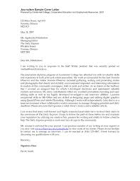 best solutions of journalism resume cover letter examples for