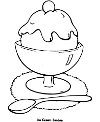 free printable ice cream coloring pages kids