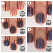 one nail to rule them all tutorial thursday glitter strips for