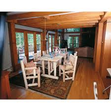 harvest dining room tables rustic natural cedar furniture company cedar log harvest family