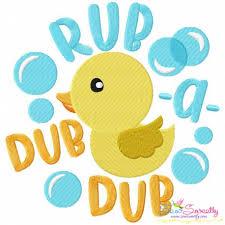 design embroidery rub a dub dub nursery rhyme machine embroidery design for kids
