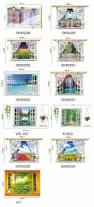 styles 3020 removable beach sea 3d window scenery wall sticker