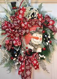 Christmas Wreath Decorations Pinterest by 236 Best Christmas Wreaths Images On Pinterest Christmas Ideas