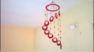 diy wind chime wall hanging using woolen room decoration
