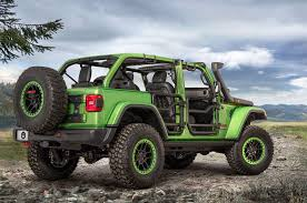 jeep green mopar factory customized 2018 jeep wranglers at la auto show photo