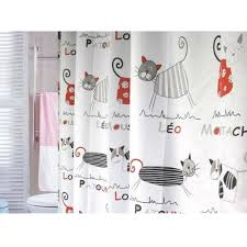 Cheap Cute Curtains Cute Stylish Peva Fabric Cat Shower Curtain