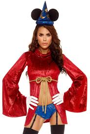 Mickey Mouse Halloween Costumes Forplay Womens Magic Mickey Mouse Costume Upscalestripper