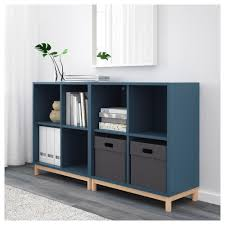 ikea space saver eket storage combination with legs dark gray ikea