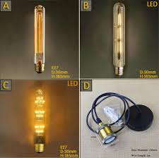 discount t185 40w vintage incandescent bulbs d30mm h185mm test