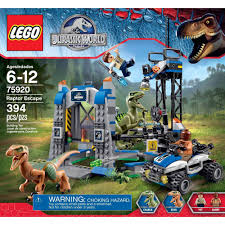 jurassic world jeep lego lego jurassic world raptor escape play set walmart com