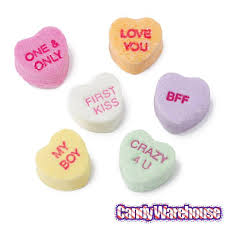 heart candies brach s tiny conversation hearts candy 33 ounce bag
