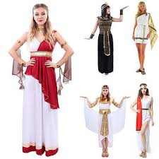 Cleopatra Halloween Costumes Adults Women Halloween Costume Cleopatra Egyptian Goddess Roman Fancy