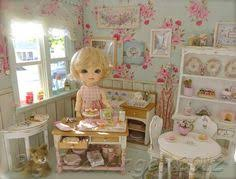 Shabby Chic Dollhouse by Seashell Cottage Dolls House Back Opening Dollhouse Shabby Chic