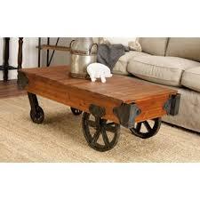Rail Cart Coffee Table Wayfair
