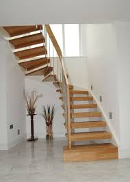 Under Stair Bar by Interior Wooden Stair Railing And White Wall Paint Color 22