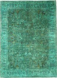 green 9 u0027 x 12 u0027 over dyed ziegler oriental rug oriental rugs