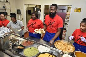 harden family thanksgiving at of houston rockets