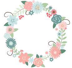 flower wreath free flower wreath clipart image 17157 recolored floral wreath