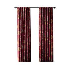 Terracotta Blackout Curtains Home Decorators Collection Terracotta Floral Cottage Back Tab