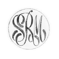 Initial Monogram Fonts Monogram Rings