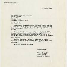 calisphere richard foster letter to dorothy drake 1969 january 14
