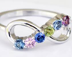 family birthstone rings mothers ring etsy