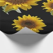 sunflower wrapping paper sunflower wrapping paper craft supplies diy custom design supply