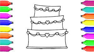 wedding cake drawing how to draw wedding cake learn coloring and drawing