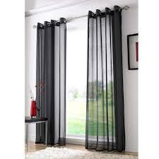 Curtains With Rings At Top Cortina Preta Para Sala Quarto 200x250 Voil Detalhes De