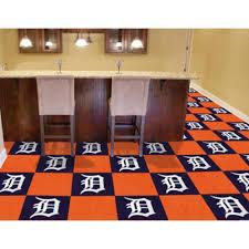 Carpet Tiles by Amazon Com Mlb Detroit Tigers Carpet Tiles Home Improvement