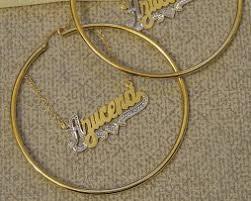 Gold Name Earrings Name Choker Personalized Chokers Gvantsas Fine Designs