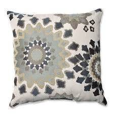 marais garden blue 18 inch square throw pillow pillow