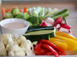 raw veggies with chipotle ranch dressing recipe ree drummond