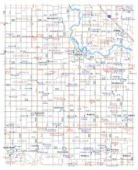 Iowa Map With Cities Township Map Of Benton County Iowa